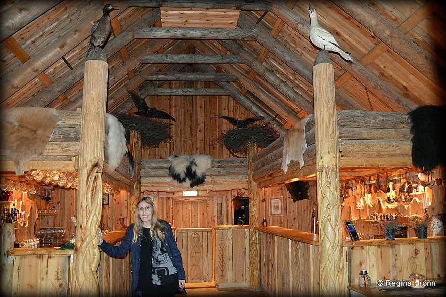 Regína at Ingólfsskáli Longhouse - a Viking restaurant