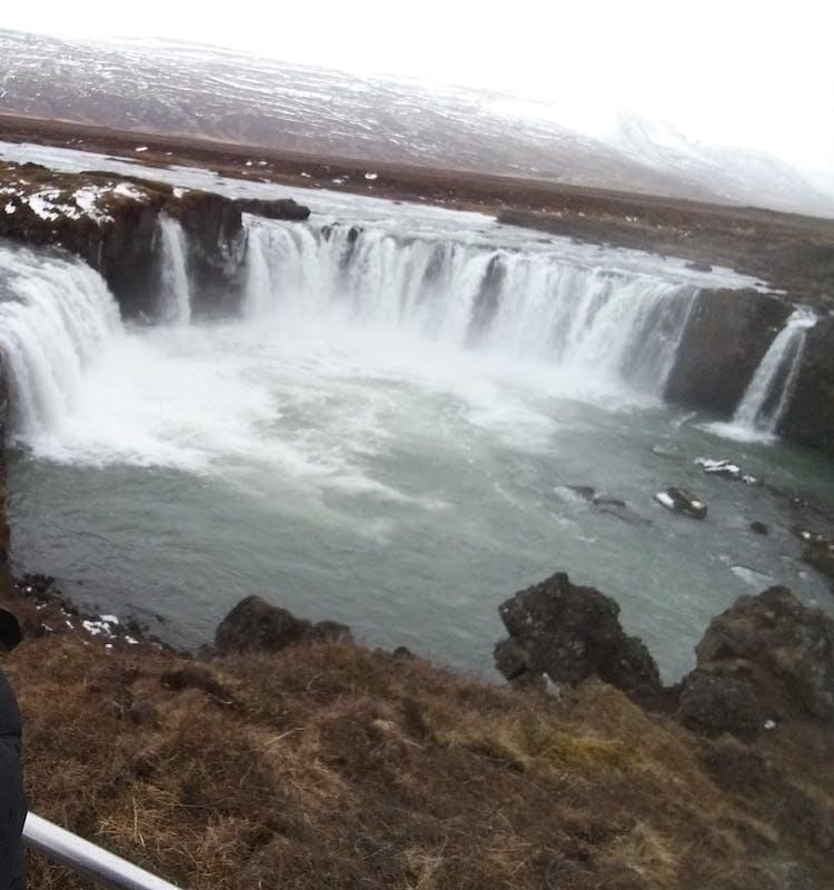 Goðafoss falls, Skjálfandafljót. North Iceland.