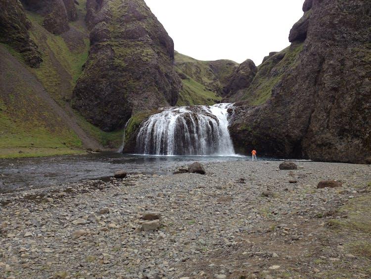Stjórnarfoss waterfall, South Iceland.
