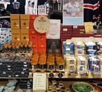 Icelandic gourmet products on display.