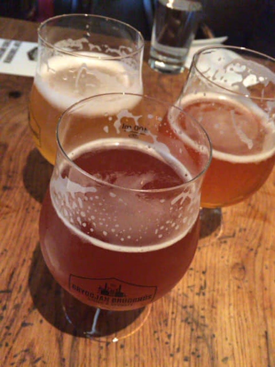 三種類のクラフトビール