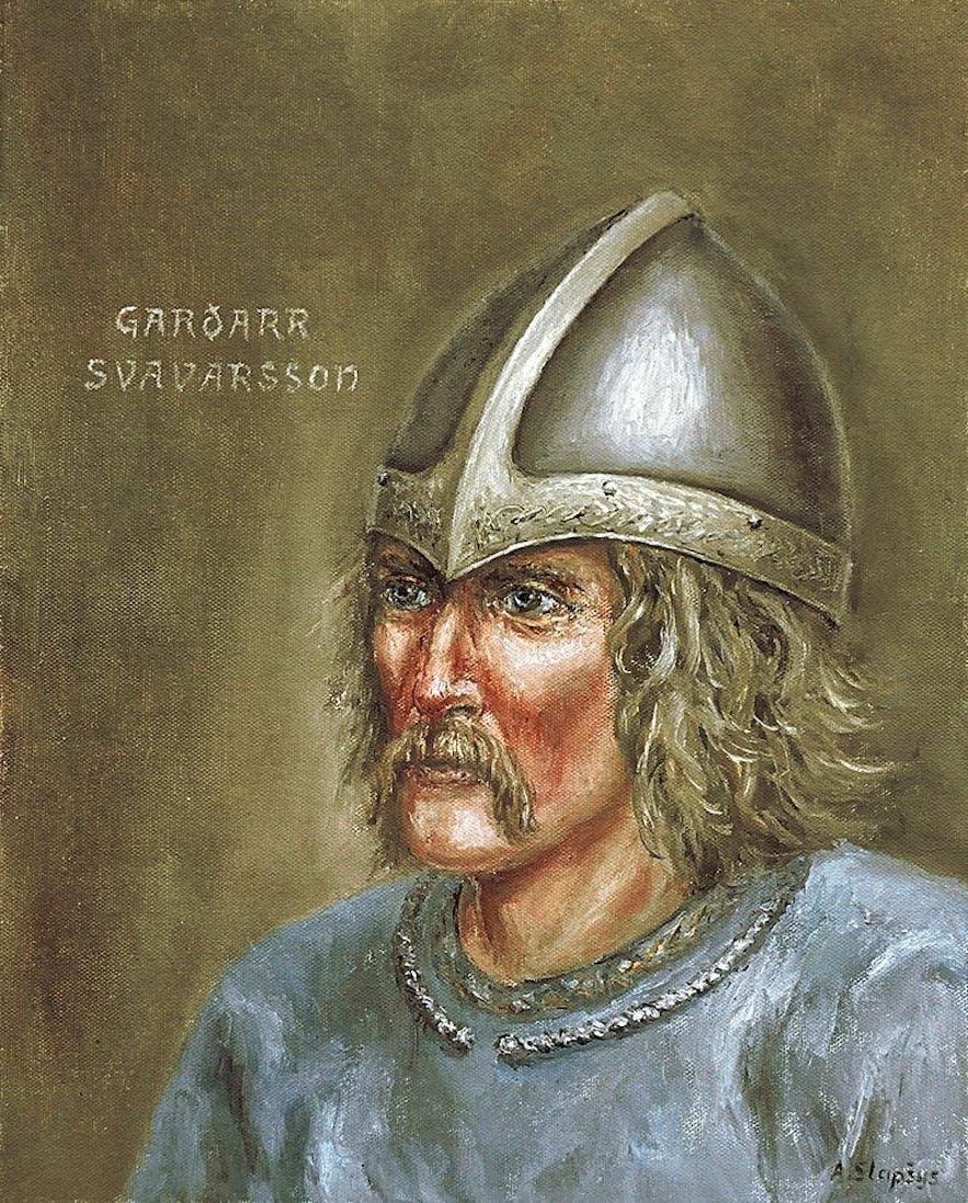 Der erste Wikinger, der nach Island kam—Garðar Svavarsson.
