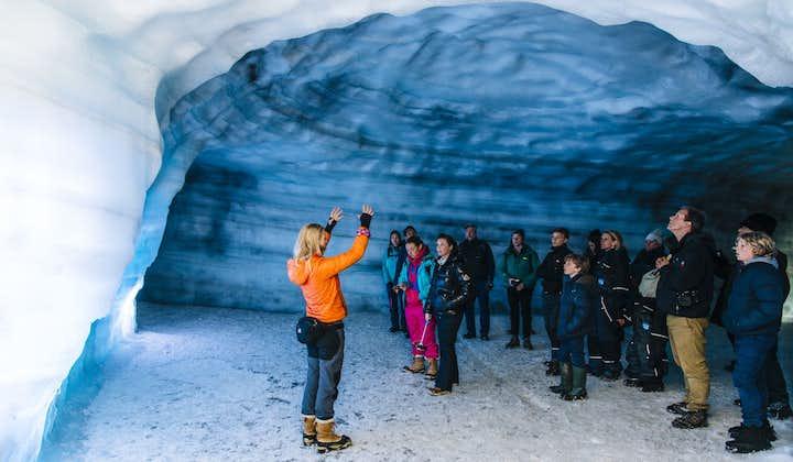 Emocjonująca 2,5-godzinna wycieczka do tuneli w lodowcu Langjokull z transferem z Husafell
