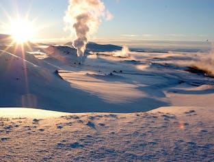 Tour por Myvatn y aguas termales con vuelo incluido desde Reykjavík