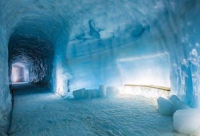 Tunel w lodowcu Langjokull i atrakcje zachodniej Islandii