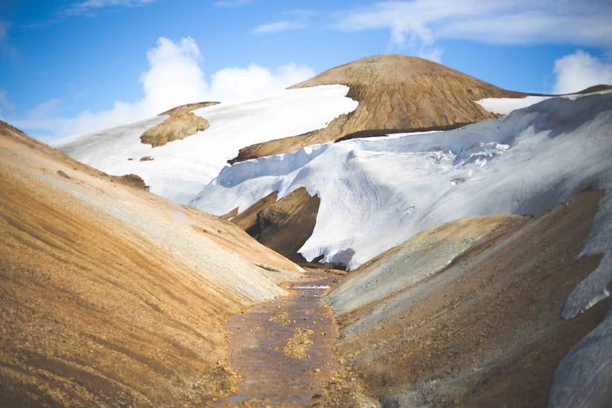 冰島內陸高地Hrafntinnusker 景色