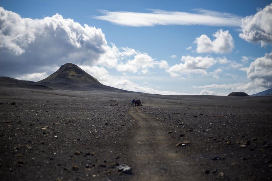 冰島內陸高地Emstrur黑沙沙漠