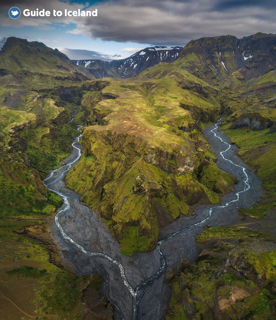 冰島中央高地Thorsmork 景色