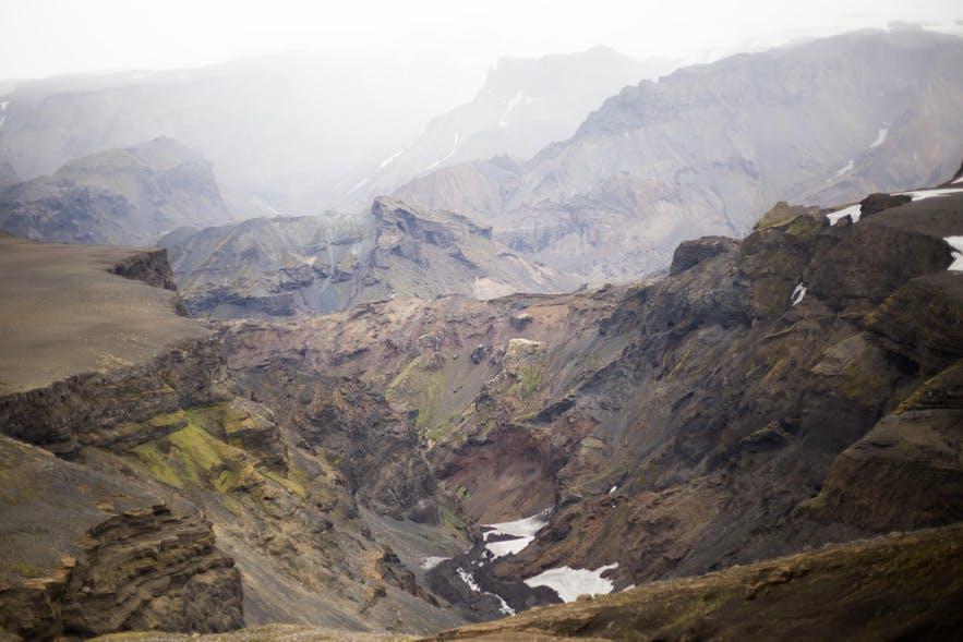 冰島中央高地Fimmvörðuháls火山景色