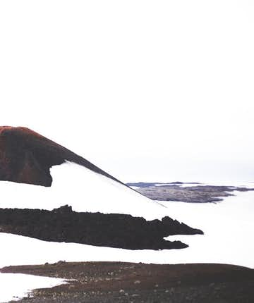 冰島中央高地的Fimmvörðuháls健行徒步路線景色