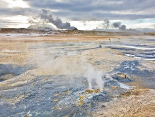 Mývatn Sightseeing & Hot Springs Tour with Flights from Reykjavík