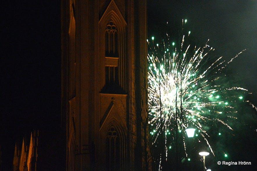Landakotskirkja - the Catholic church on New Year's Eve