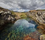 Silfra fissure, in Þingvellir, with its remarkably clear waters.