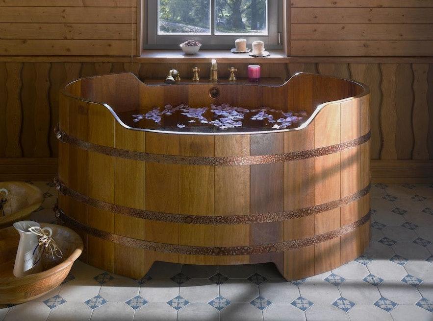 Baño de cerveza en el norte de Islandia