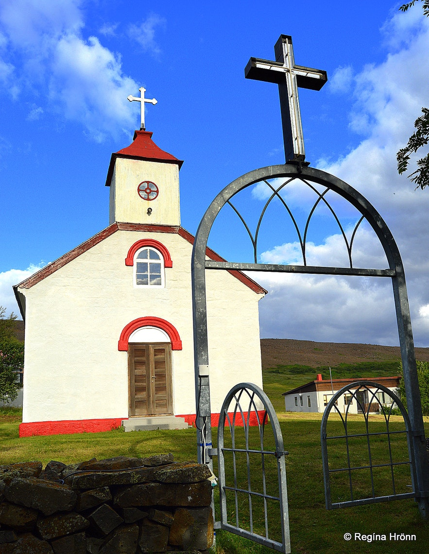 Lundarbrekkukirkja church Bárðardalur valley North-Iceland