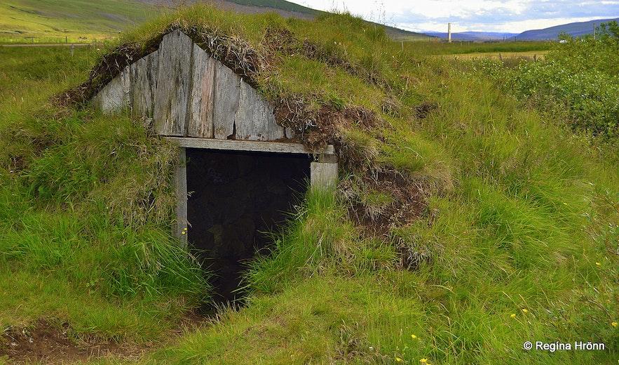 A small turf hut in Bárðardalur (Kiðagil) North-Iceland