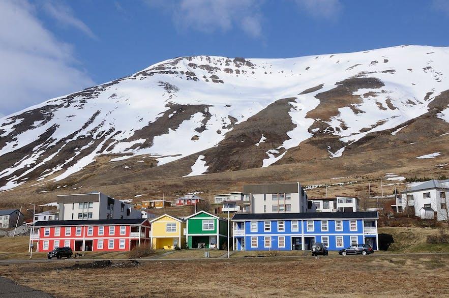 Colourful buildings in Siglufjörður