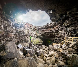 Víðgelmir   einfache Höhlen-Erkundung