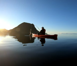 Kayak Fishing Adventure by Mt. Kirkjufell