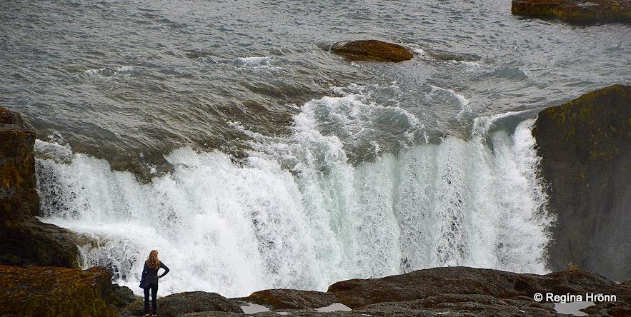 Hrafnabjargafoss waterfall in Skjálfandafljót river