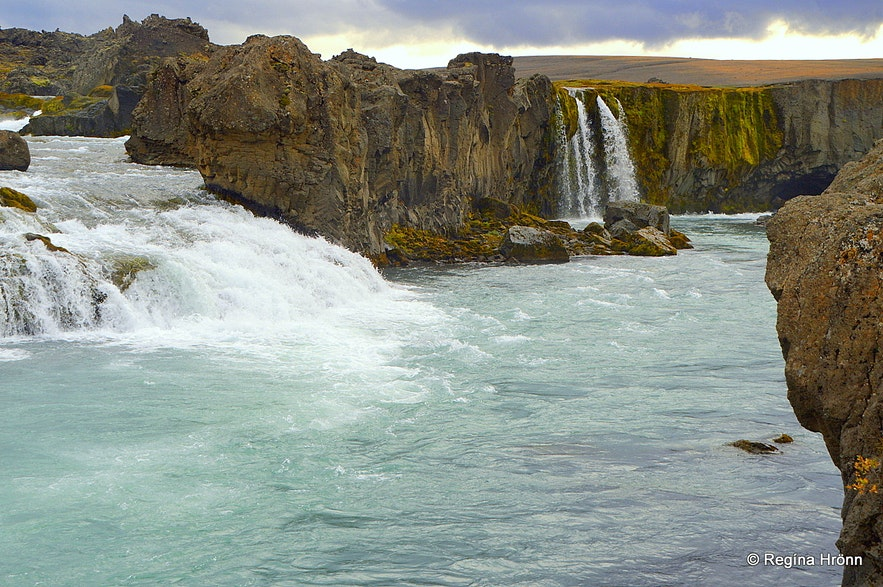 Hrafnabjargafoss waterfall Skjálfandafljót glacial river North-Iceland