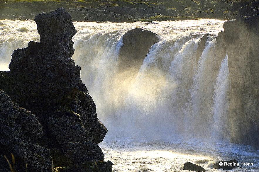 Goðafoss waterfall in Skjálfandafljót river