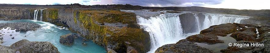 Hrafnabjargafoss Waterfall in Skjálfandafljót River in North-Iceland