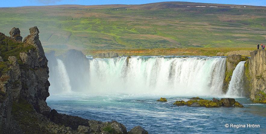 Goðafoss waterfall and 2 rocks