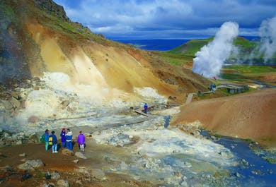 Reykjanes Peninsula with Lava Tunnel & Blue Lagoon | Private Day Tour
