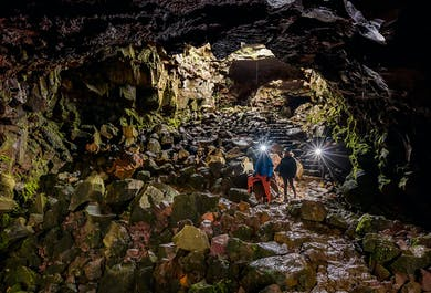 Private Reykjanes Peninsula with Lava Tunnel & Blue Lagoon Day Tour