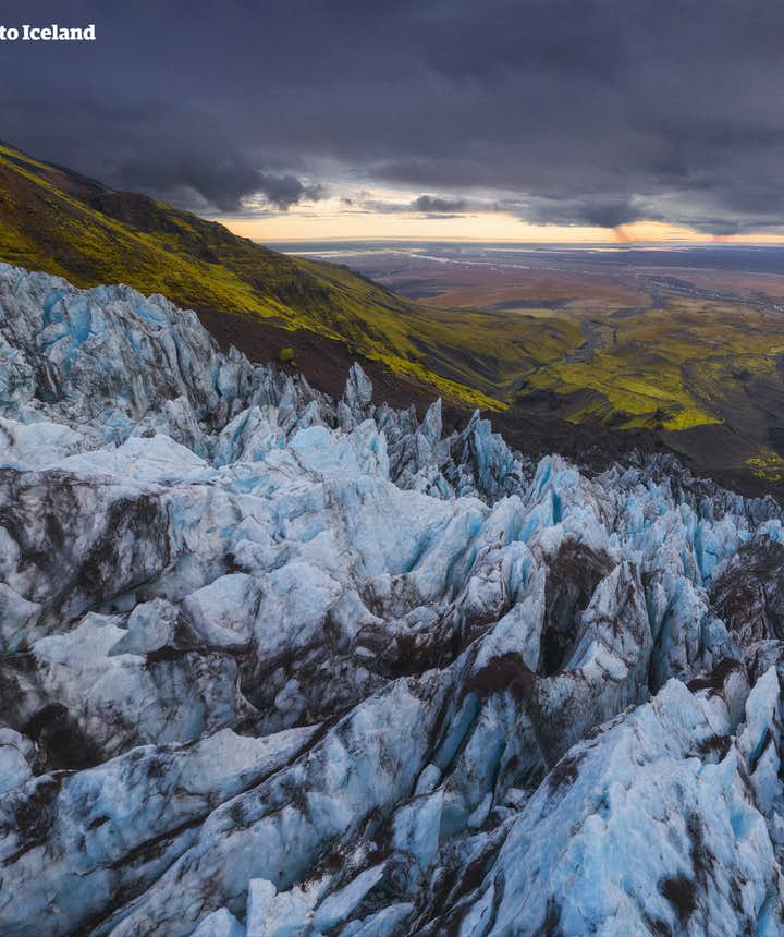 Svínafellsjökull i Skaftafell naturreservat.