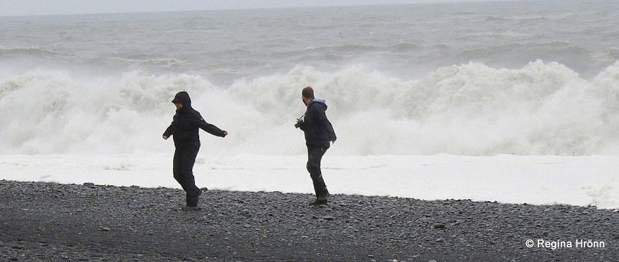 Big waves at Reynisfjara beach