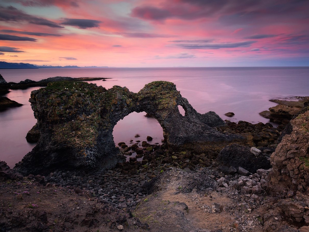 This sea arch at Hellnar is mesmerising and a photographer's favourite.
