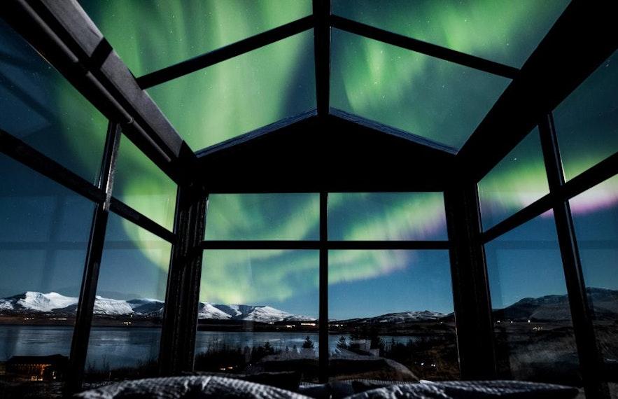 冰島極光玻璃屋