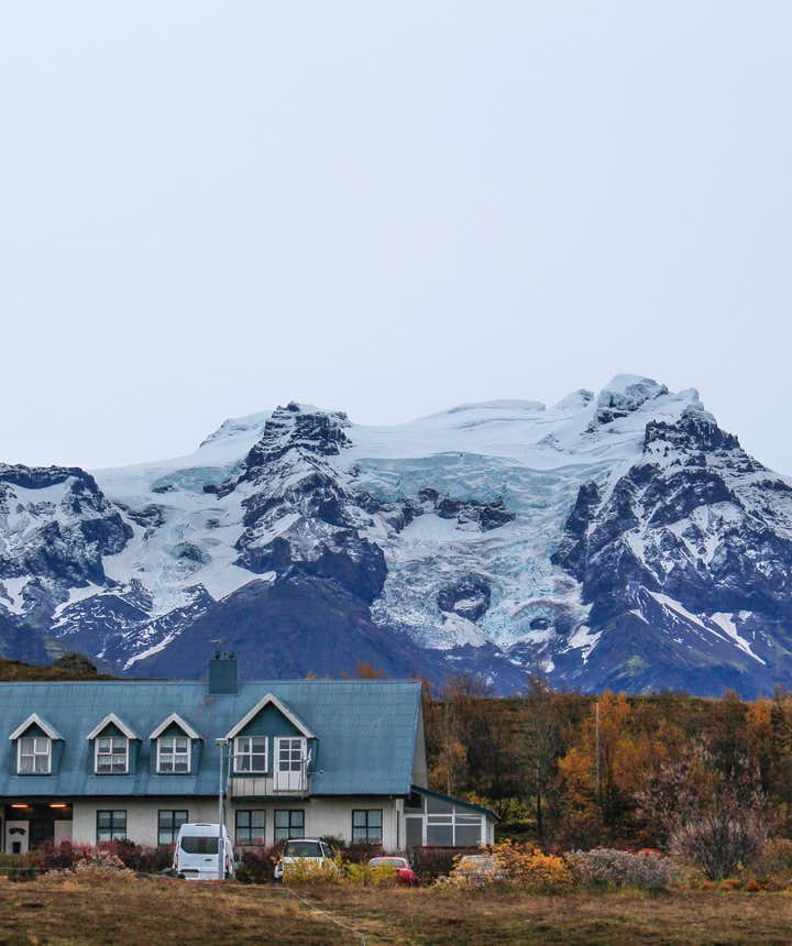 冰島冰川前的酒店