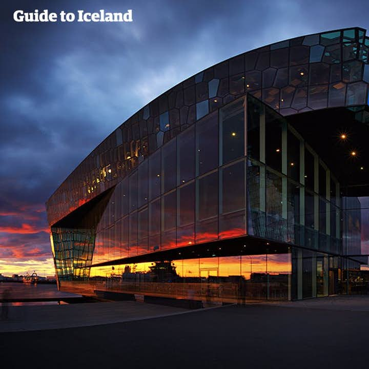 A shot of Harpa Concert Hall and Conference Centre; one of the best examples of modernist Icelandic architecture.