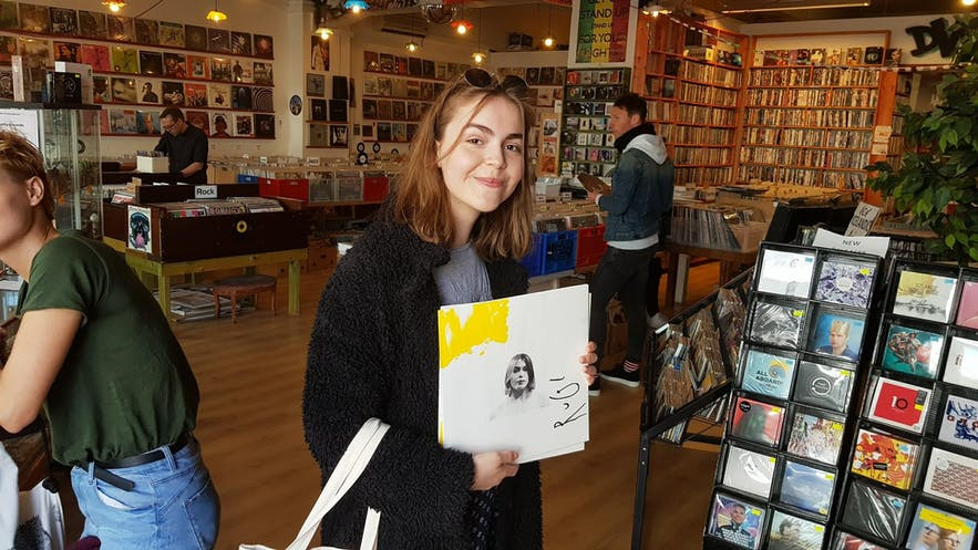 RuGl at Lucky Records in Reykjavik.
