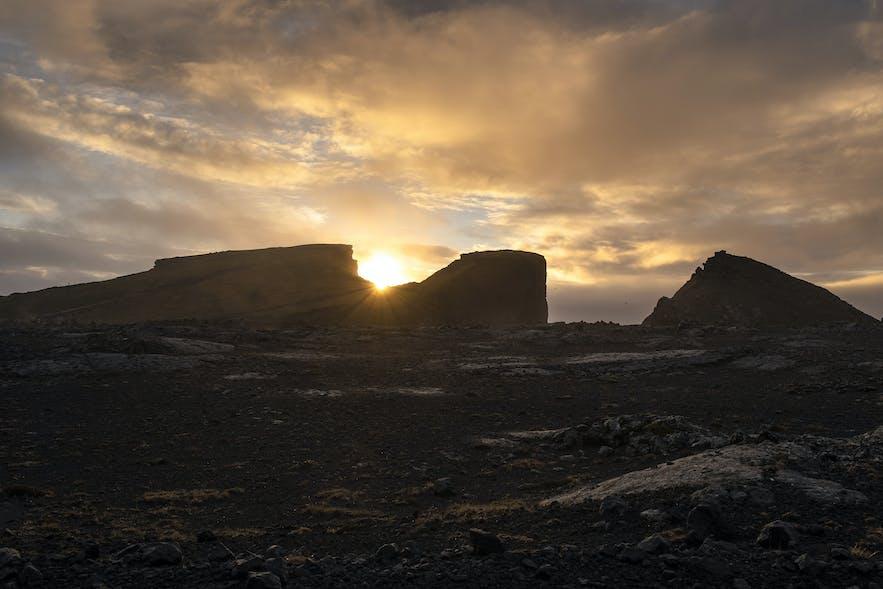 Sonnenuntergang Valahnúkamöl