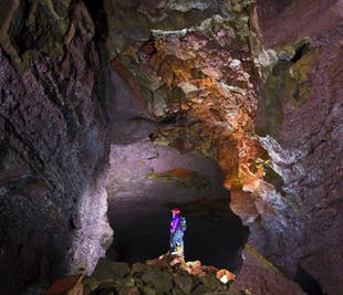 Lava Cave, Volcanic Craters, Hot Springs, Krauma Spa & Waterfalls | Small Group Day Tour