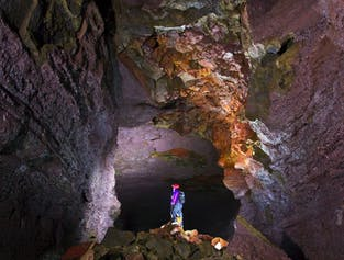 Lava Cave, Hot Springs, Krauma Spa & Waterfalls   Small Group Day Tour