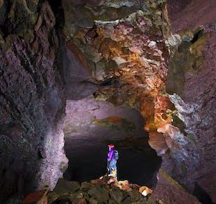 Mała grupa | Jaskinia lawowa, kratery, spa Krauma, wodospady