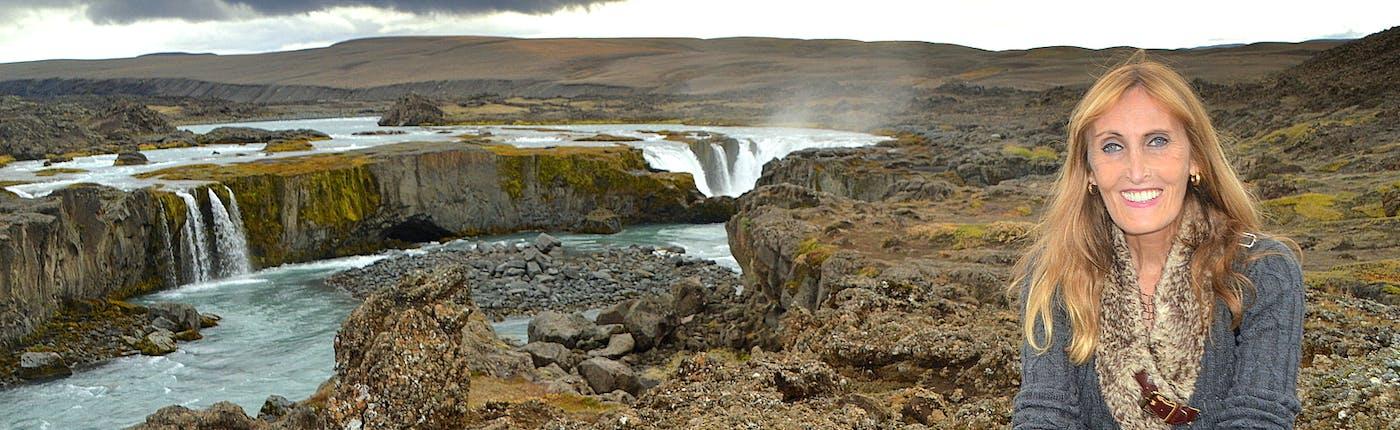 The picturesque Hrafnabjargafoss Waterfall in Skjálfandafljót River in North-Iceland