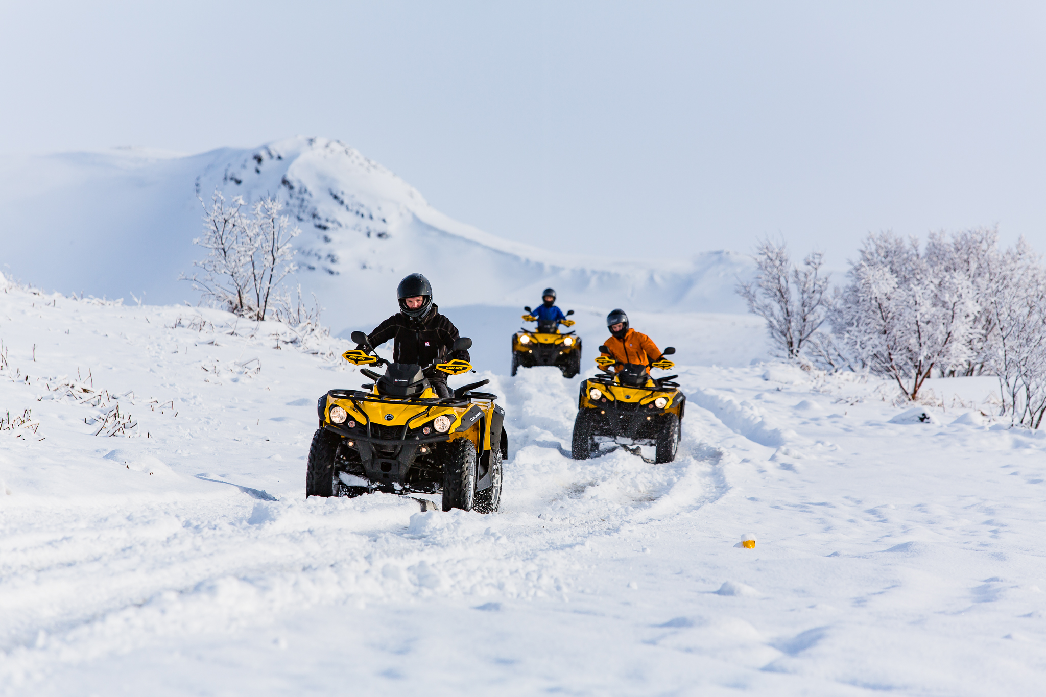 Hop aboard an ATV and zoom through the snow just outside of Reykjavík.