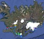 Découvrez le Cercle d'Or, la côte sud et les fjords de l'est au cours de cette aventure de quatre jours. Consultez l'itinéraire sur la carte.