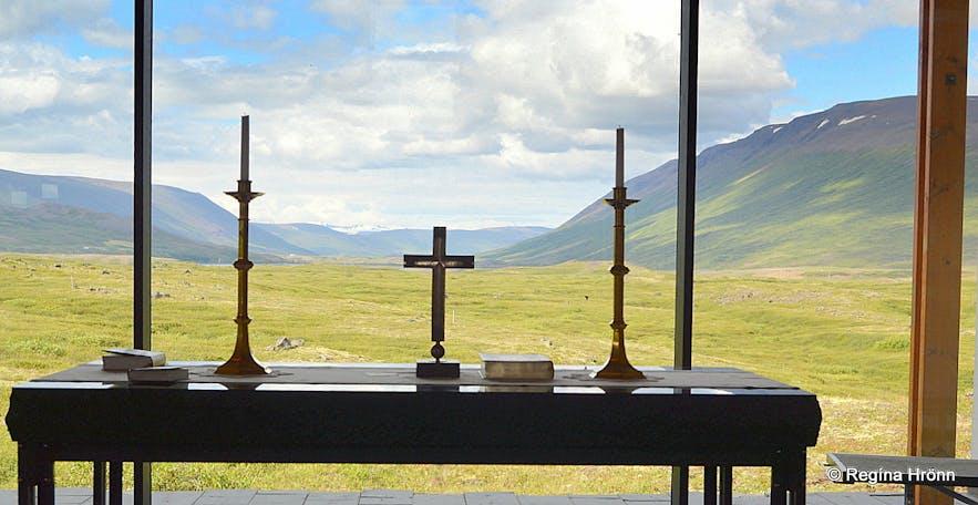 The altar at Þorgeirskirkja church