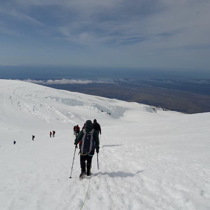 Experienced hikers climb Hvannadalshnjukur