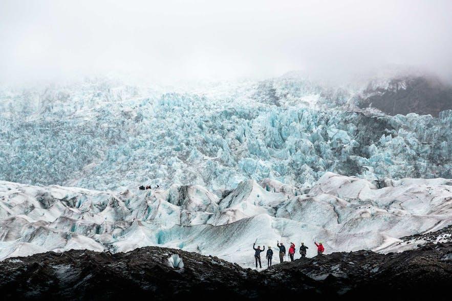 冰島斯卡夫塔山冰川健行團途徑