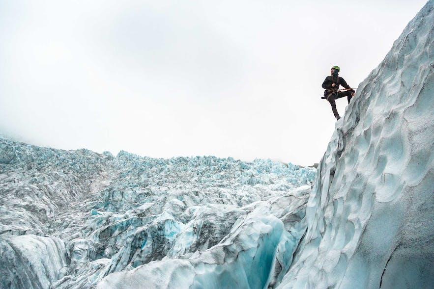 冰島斯卡夫塔山自然保護區攀冰