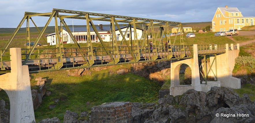 Goðafoss foot bridge