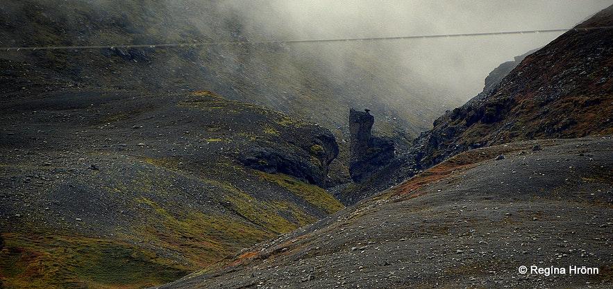 Sexhólagil canyon Bárðardalur valley N-Iceland